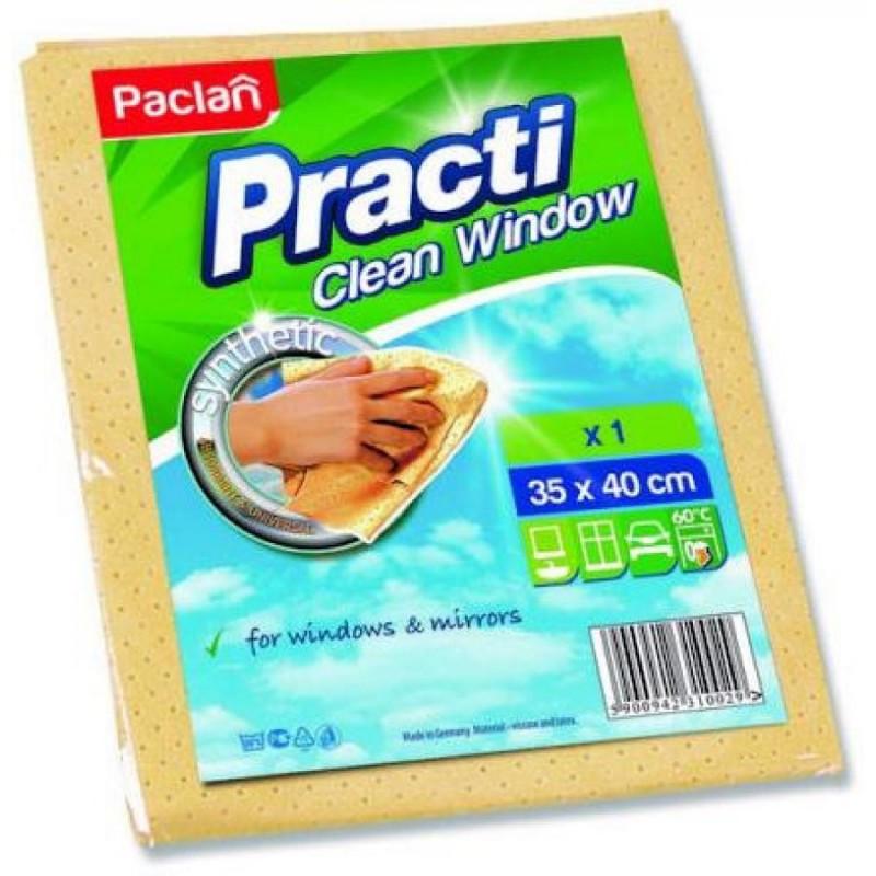 Салфетка для полировки стекол 35*40см PACLAN PRACTI CLEAN WINDOW